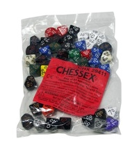 Chessex: D10 Assorted Loose Opaque Polyhedral Dice (50 Pack)