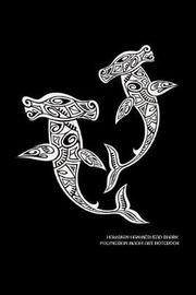 Hawaiian Hammerhead Shark Polynesian Maori Art Notebook by Delsee Notebooks image