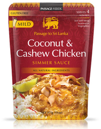 Passage to Sri Lanka - Coconut & Cashew Chicken Simmer Sauce (375g)