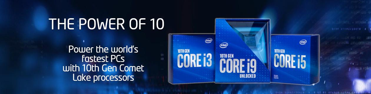 New 10th gen Intel CPUs