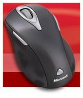 Microsoft Wireless Laser Mouse 5000 Mac/Win USB Port Metallic Black