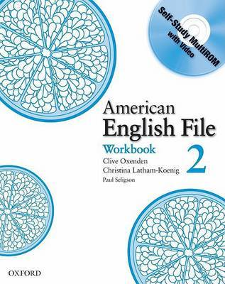 American English File Level 2: Workbook with Multi-ROM Pack by Christina Latham-Koenig image