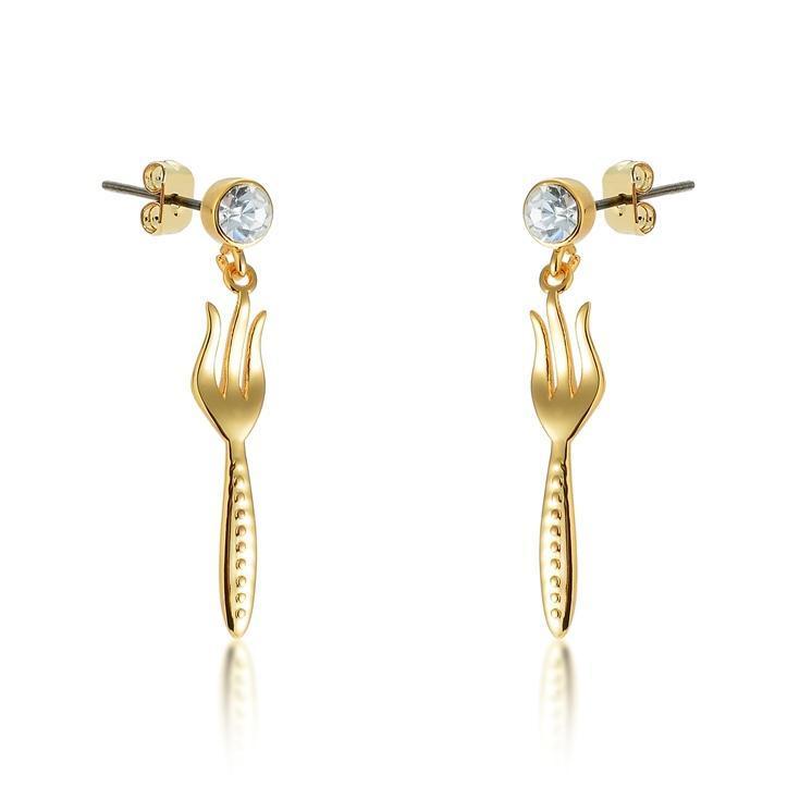 Disney: Princess Ariel Dinglehopper Earrings - Yellow Gold image
