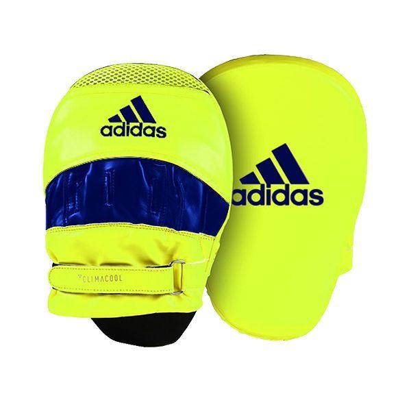 Adidas: Speed Training Focus Mitt - Curved - Solar Yellow/Blue