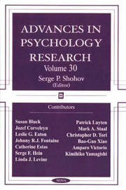 Advances in Psychology Research: v. 30 image