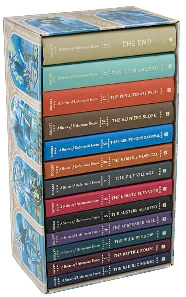 The Complete Wreck Boxed Set - A Series of Unfortunate Events Books 1-13 (Complete Series) by Lemony Snicket