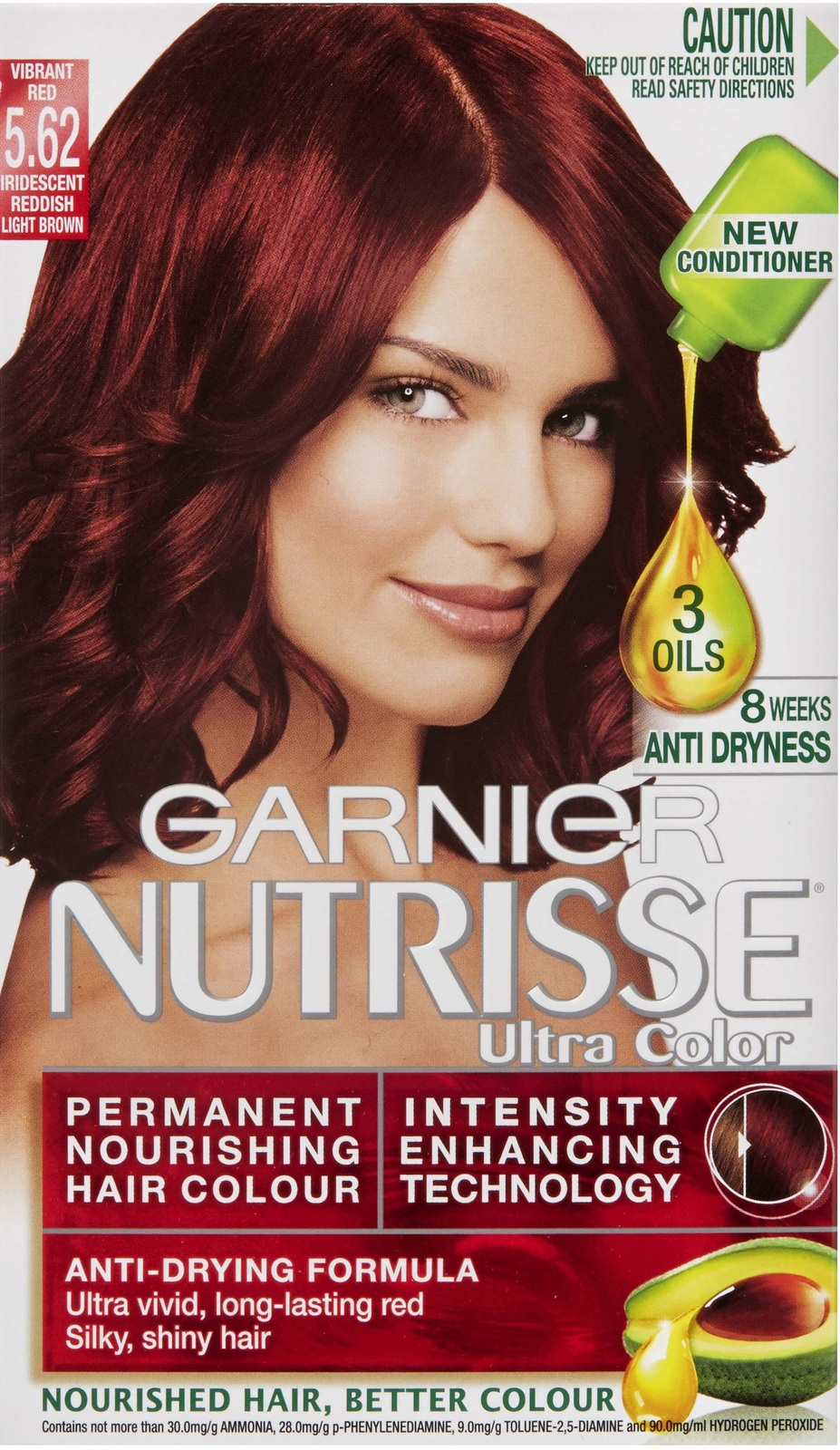 Buy Garnier Nutrisse Ultra Hair Colour 562 Vibrant Red At Mighty Ape Nz