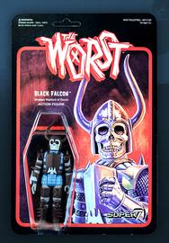 The Worst: Graveyard Shift - Black Falcon Retro Action Figure