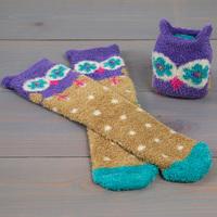 Natural Life: Cozy Socks - Purple Owl