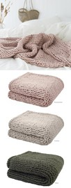 Bambury Chunky Knit Throw (Olive) image