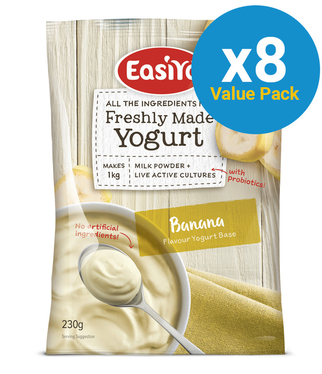 EasiYo: Everyday Range Yogurt Base Banana (230g) - 8-Pack