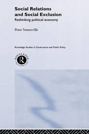 Social Relations and Social Exclusion by Peter Somerville image