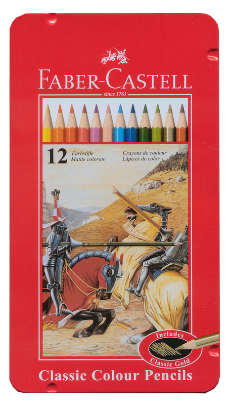 Faber-Castell: Classic Coloured (Tin of 12)