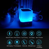 Bluetooth Speaker Alarm Clock with Night Lamp