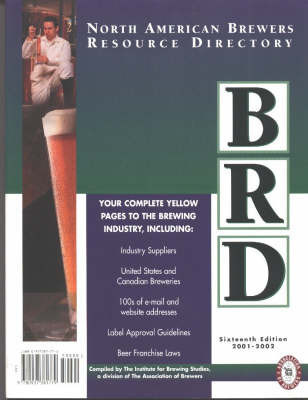 North American Brewers Resource Directory: 2001-2003 by Institute for Brewing Studies