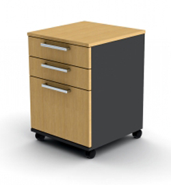Proceed 3 Drawer with File Mobile - W470mm x D480mm x H640mm