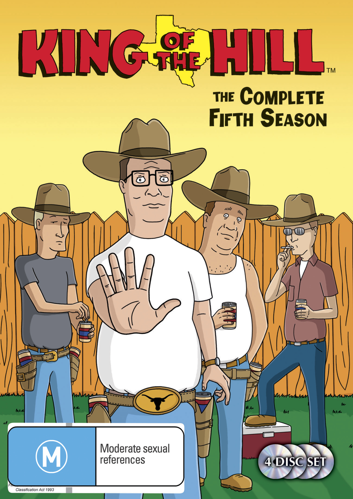King of the Hill - Complete Season 5 (4 Disc Set) on DVD image