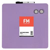 FM Frameless Magnetic Dry-Erase Board (Purple)