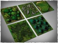 DeepCut Studios Neoprene Terrain tiles set Midland Nature