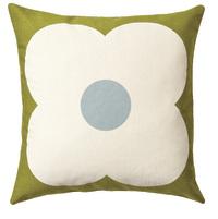 Orla Kiely: Abacus Flower Cushion - Olive/Duck Egg (45cm)
