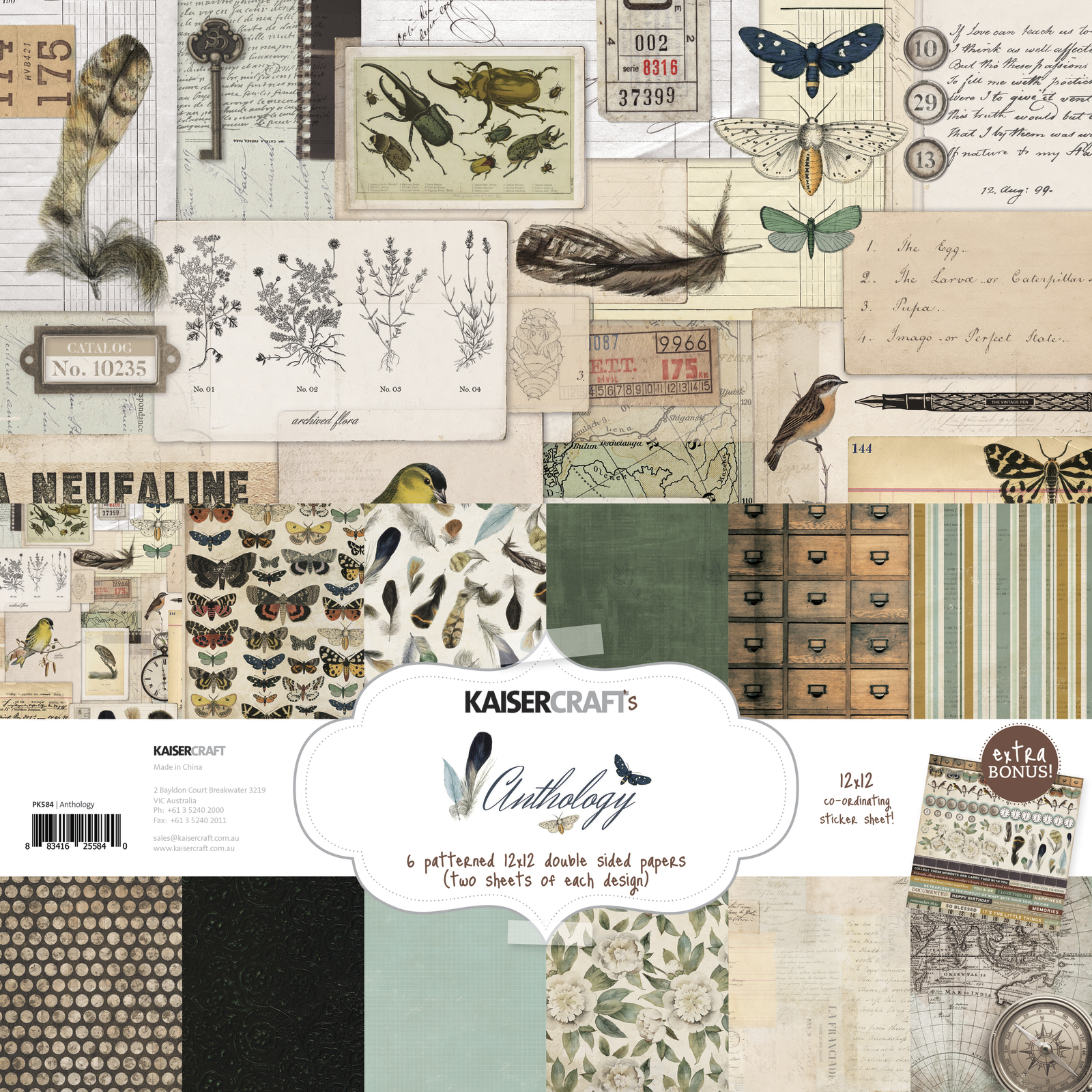 Kaisercraft: Paper Pack with Bonus Sticker Sheet - Anthology image