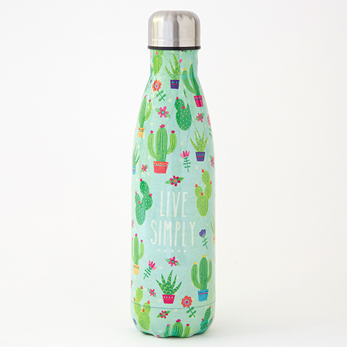 Natural Life: Stainless Steel Water Bottle - Live Simply