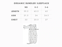 Babu: Organic Baby Bundler Sleep Sack - Fox Grey (0-3m) image