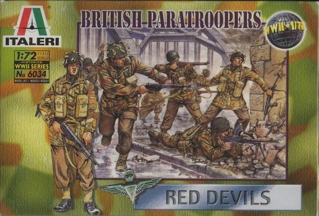 "Italeri British Paratroopers ""Red Devils"" (WWII) 1:72 Model Kit"