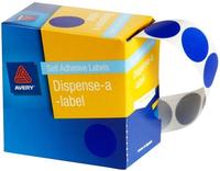 Avery Blue 24mm Diameter Circle Dispenser Labels Pkt500