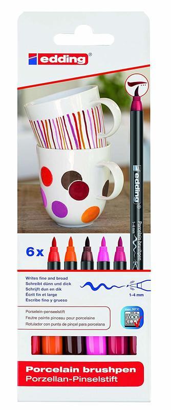 Edding: Porcelain Brush Pen Set (6) - Warm