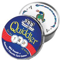 Quiddler: Mini Round Tin Card Game