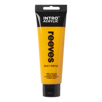 Reeves Intro Acrylic - Deep Yellow (120ml)