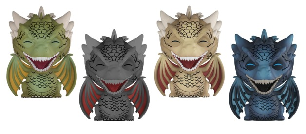 Game of Thrones - Dragons Dorbz Vinyl 4-Pack