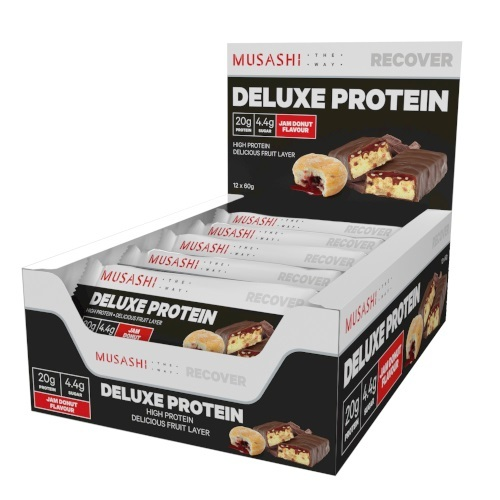 Musashi: Deluxe Protein Bar - Jam Donut (12x60g)