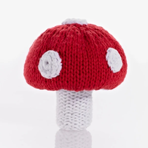 Pebble: Crochet Rattle - Toadstool