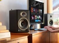 Audioengine 5+ Powered Bookshelf Speakers (Pair) Satin Black image