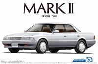 Aoshima 1/24 Toyota GX81 Mark2 2.0 Grande Twincam24 '88 - Scale Model