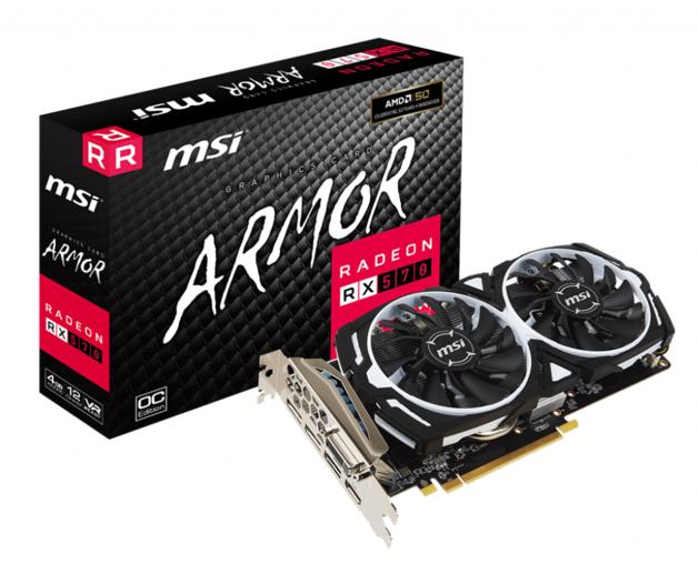 MSI Radeon RX 570 Armor 4G OC - Graphics Card