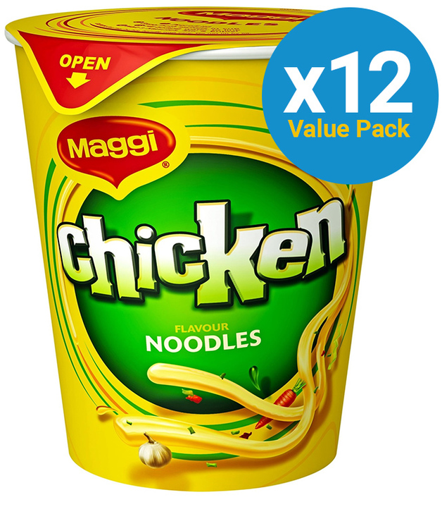 Maggi 2 Minute Cup Noodles - Chicken 60g (12 Pack)