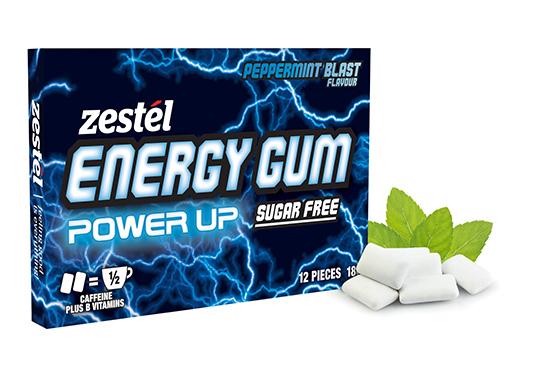 Zestel Energy Gum - Peppermint Blast