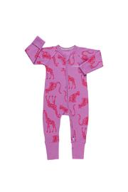 Bonds Ribby Zippy Wondersuit - Animal Party Magic Violet (0-3 Months)