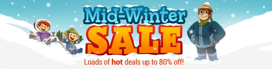 Mighty Mid-Winter Sale on Now!