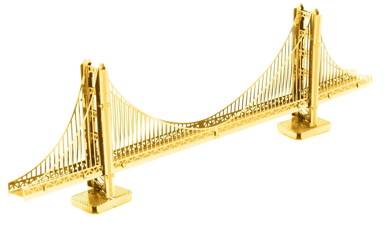 Metal Earth Golden Gate Bridge Gold Model Kit At
