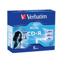 Verbatim CD-R 80Min 40x - 5 Pack