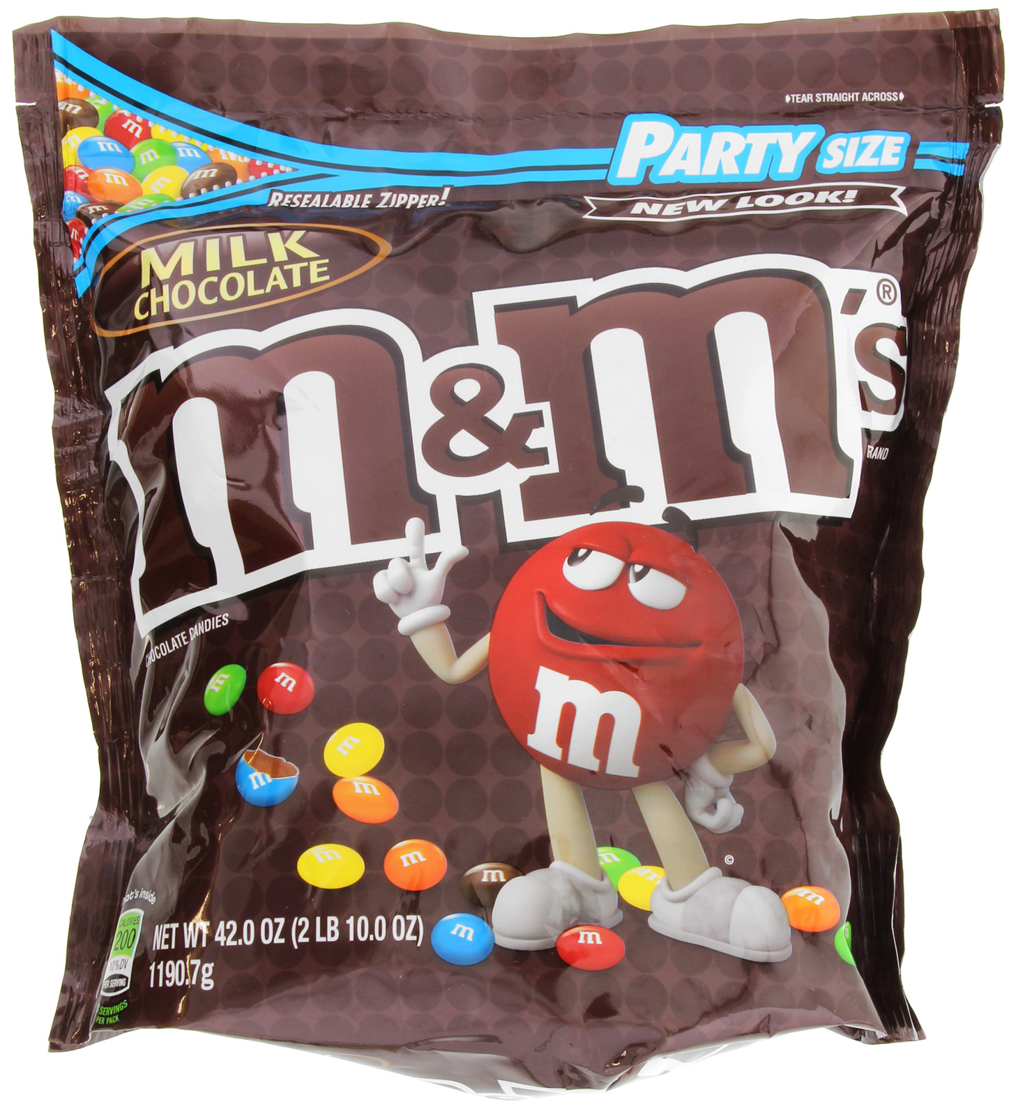 M&M's Milk Chocolate Party Bag (1.19kg) image