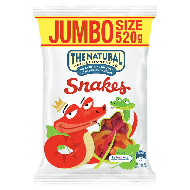 The Natural Confectionery Co Snakes (520g)