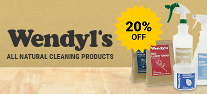 20% off Wendyl's Natural Cleaning Products