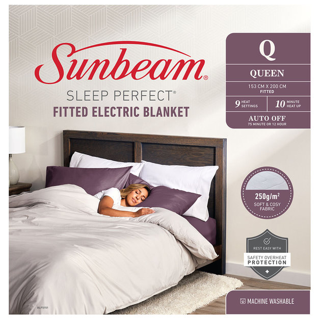 Sunbeam: Sleep Perfect Queen Fitted Heated Blanket