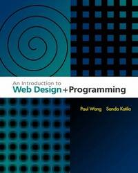 An Introduction to Web Design and Programming by Paul Wang image