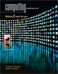 Computing Essentials 2011 by Timothy J O'Leary image